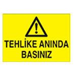 Tehlike Uyarı levhaları